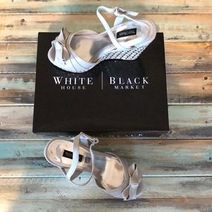 White House Black Market Sophie wedge shoes